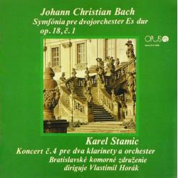 Johann Christian Bach / Karel Stamic* - Bratislavské Komorné Združenie - Symfónia Pre Dvojorchester Es Dur