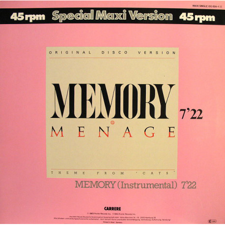 Menage – Memory