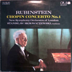 Chopin, Rubinstein, Stanislaw Skrowaczewski, New Symphony Orchestra Of London ‎– Chopin Concerto No. 1