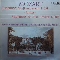 Mozart - Zdeněk Košler – Symphony No. 41 In C Major, K. 551 Jupiter/ Symphony No. 28 In C Major, K. 200